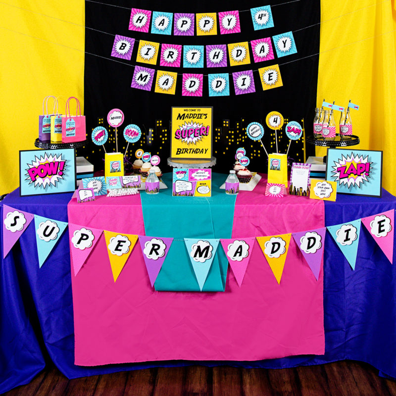 Girls Superhero Party Decorations