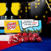 Comic Book Party Treat Bag Topper