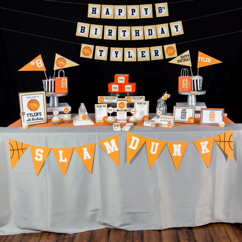 Printable Basketball Party Decorations