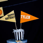 Customized Basketball Party Centerpieces