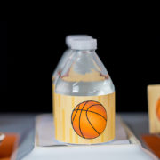 Basketball Party Water Labels