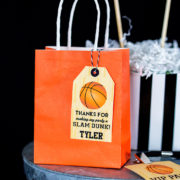 Basketball Party Favor Tags
