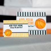 Basketball Buffet Labels