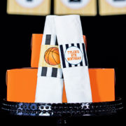 Basketball Party Napkin Ring