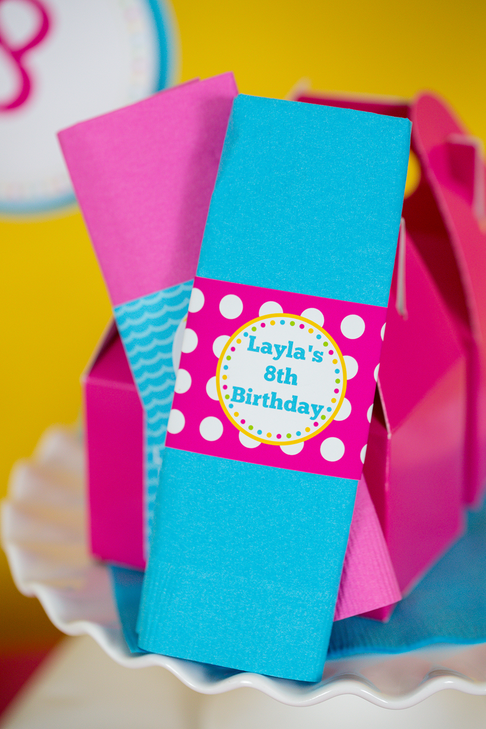 Pink Pool Party Decorations and Invitation — 505 Design, Inc