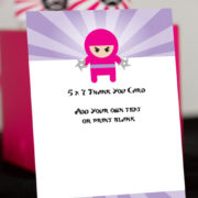 ninja-girl-thank-you-card