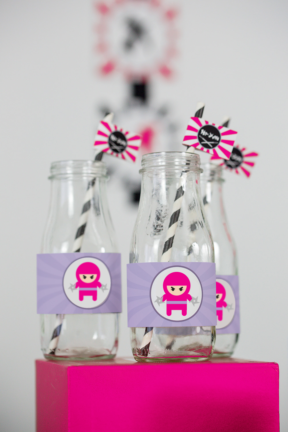 printable ninja girl birthday party decorations  u2014 505