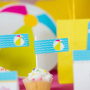 Pool Party Cupcake Flag