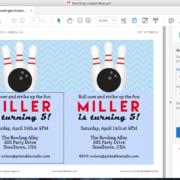 Editable Bowling Party Invitation