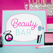 Spa Party Make Up  Sign