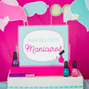Spa Party Manicure Sign