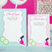 Spa Party Thank You Card