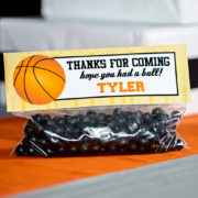 Basketball Party Treat Bag Topper