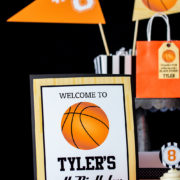 Basketball Party Welcome Sign