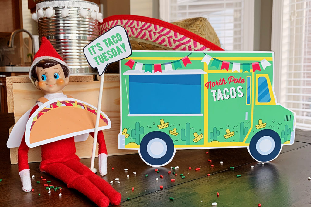 Free Printable Elf on the Shelf - Taco Truck