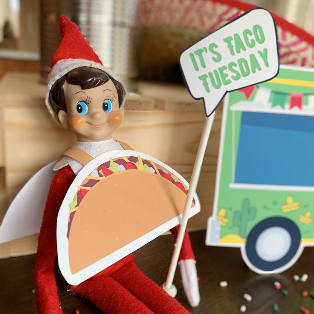 Elf on the Shelf Taco Tuesday