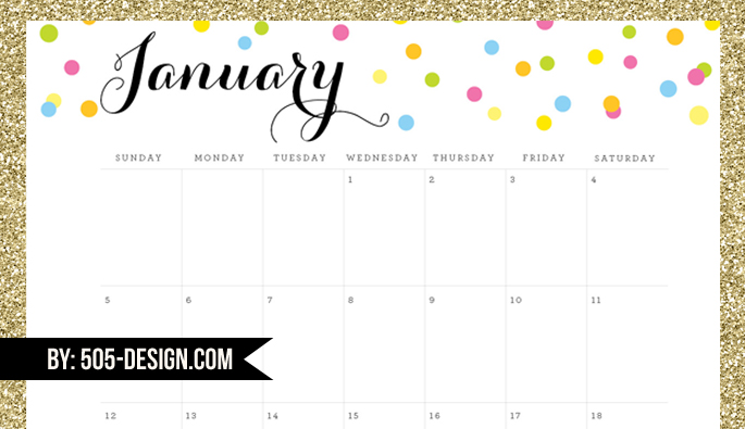 2014 Editable Free Calendar Download by 505-design.com